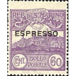 Veduta di San Marino, soprastampato espresso