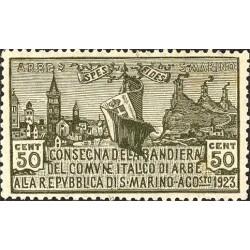 Consegna della bandiera di Arbe alla repubblica di San Marino