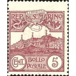 Cifrar o vista de San Marino, nuevos colores