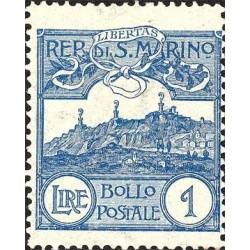 Cifra o veduta di San Marino, nuovi colori