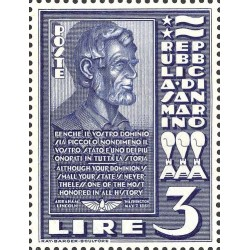 Inaugurazione del busto di Abramo Lincoln
