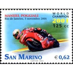 Manuel Poggiali campione del mondo di motociclismo 125cc