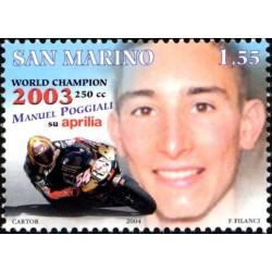 Manuel Poggiali campione del mondo di motociclismo 250cc