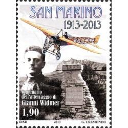 Centenario dell'atterraggio di Gianni Widmer a San Marino
